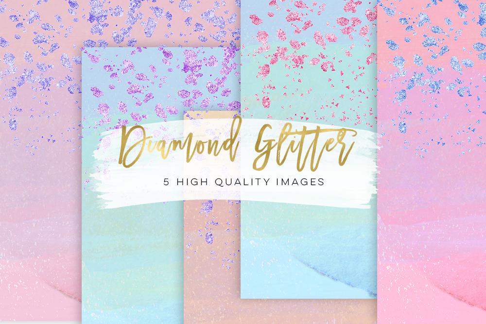 glam sticker paper, Planner Girl Clip Art paper scrapbooking paper, diamond colorful glitter fold confetti texture, Fashion Girl Clip Art example image 2