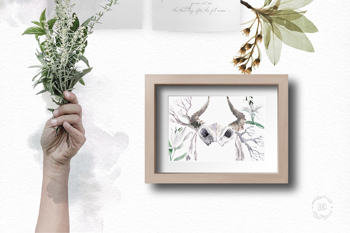 Gloomy fairytale graphic collection. example image 8