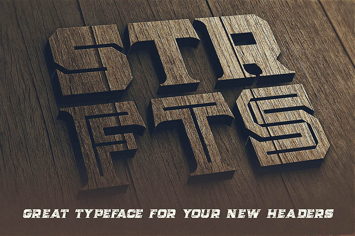 Strife - Display Font example image 5