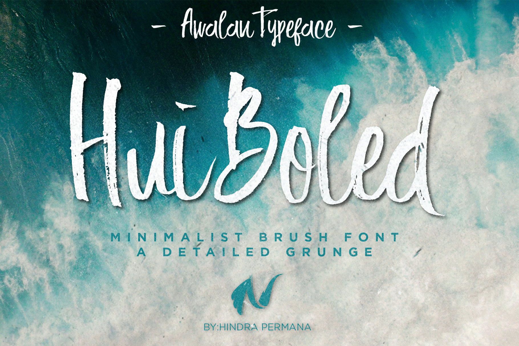 Hui Boled Hand Brush Typeface example image 1