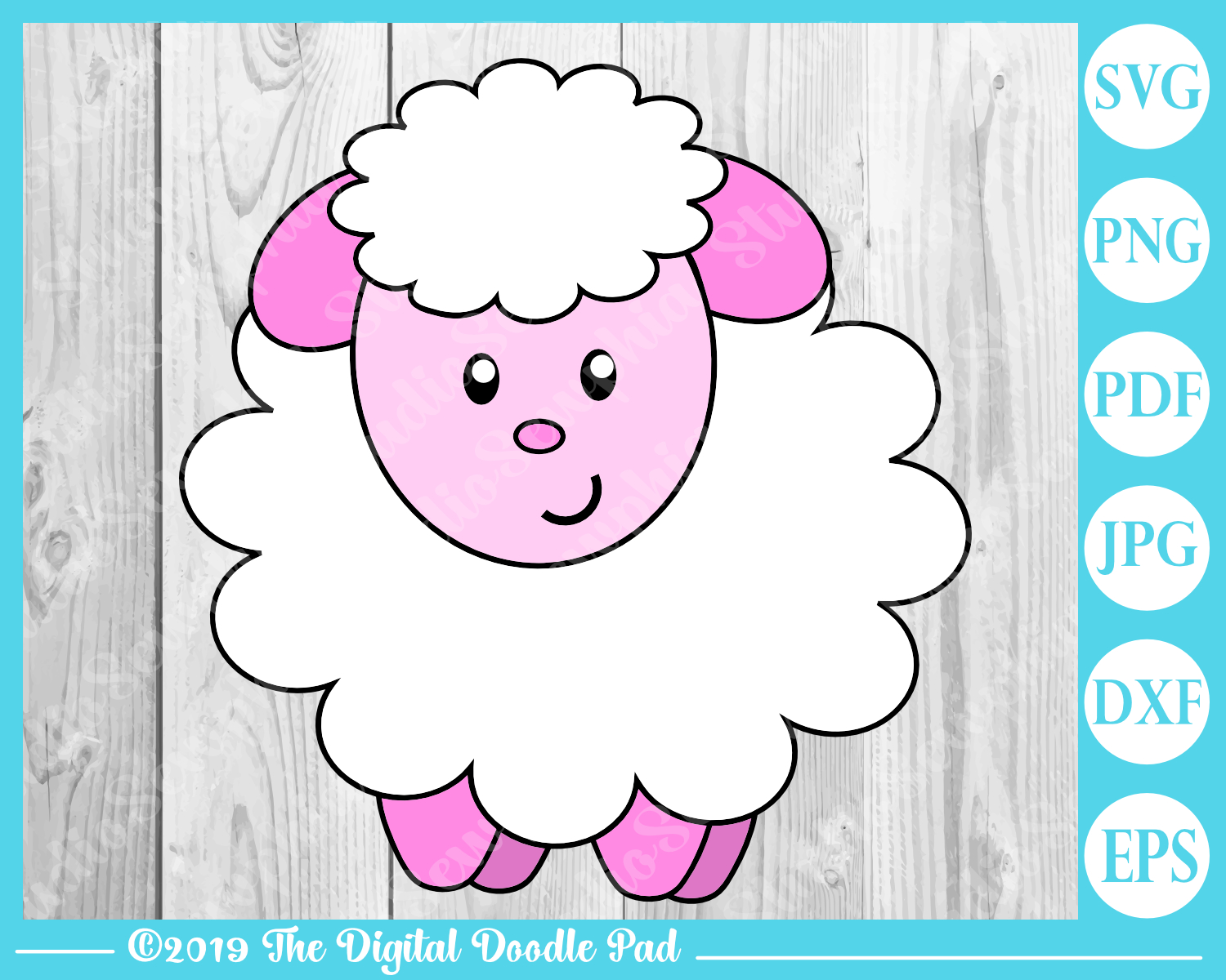 Little Lamb by Digital Doodle Pad example image 3