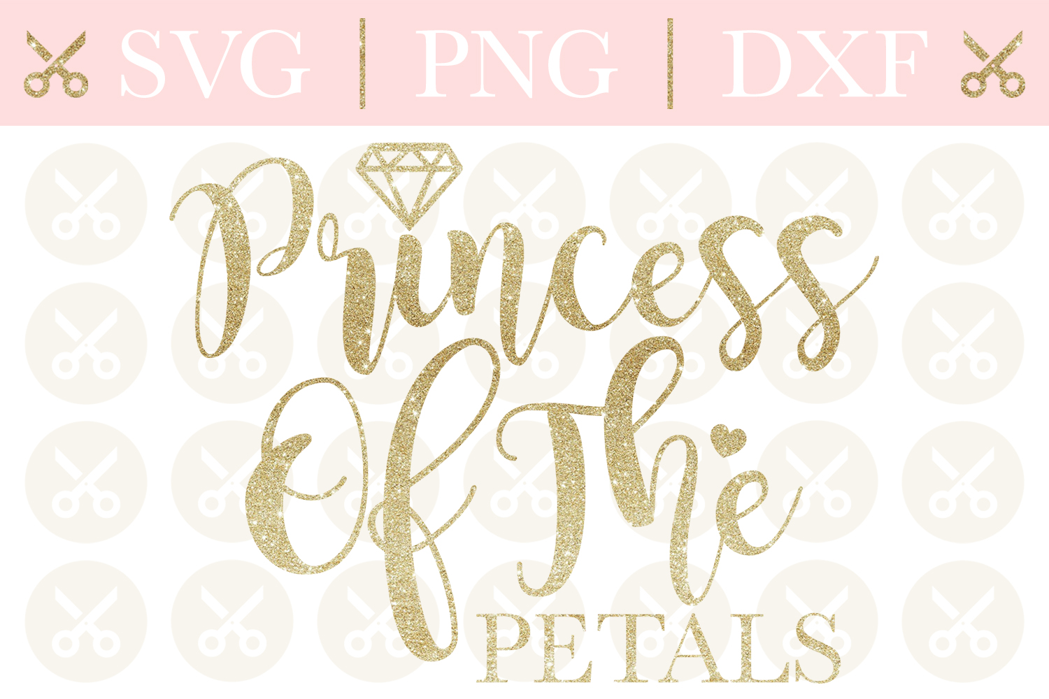 Princess Of The Petals Svg Wedding Svg Flower Girl Svg example image 1