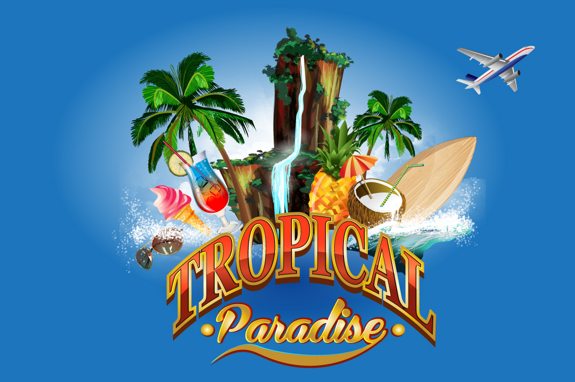 Tropical paradise. example image 1