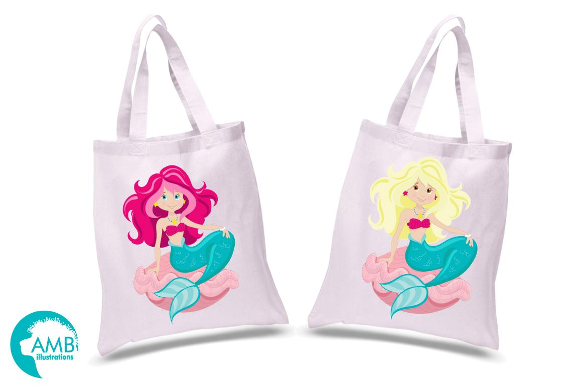 Mermaid Princess clipart, graphics, illustrations AMB-818 example image 2