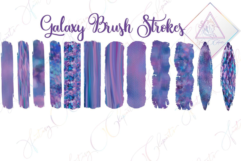 Galaxy Brush Strokes Clipart example image 1