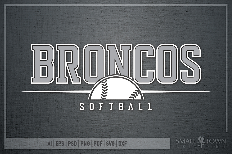 Bronco Softball, Logo, Team, Sports, PRINT, CUT & DESIGN example image 5