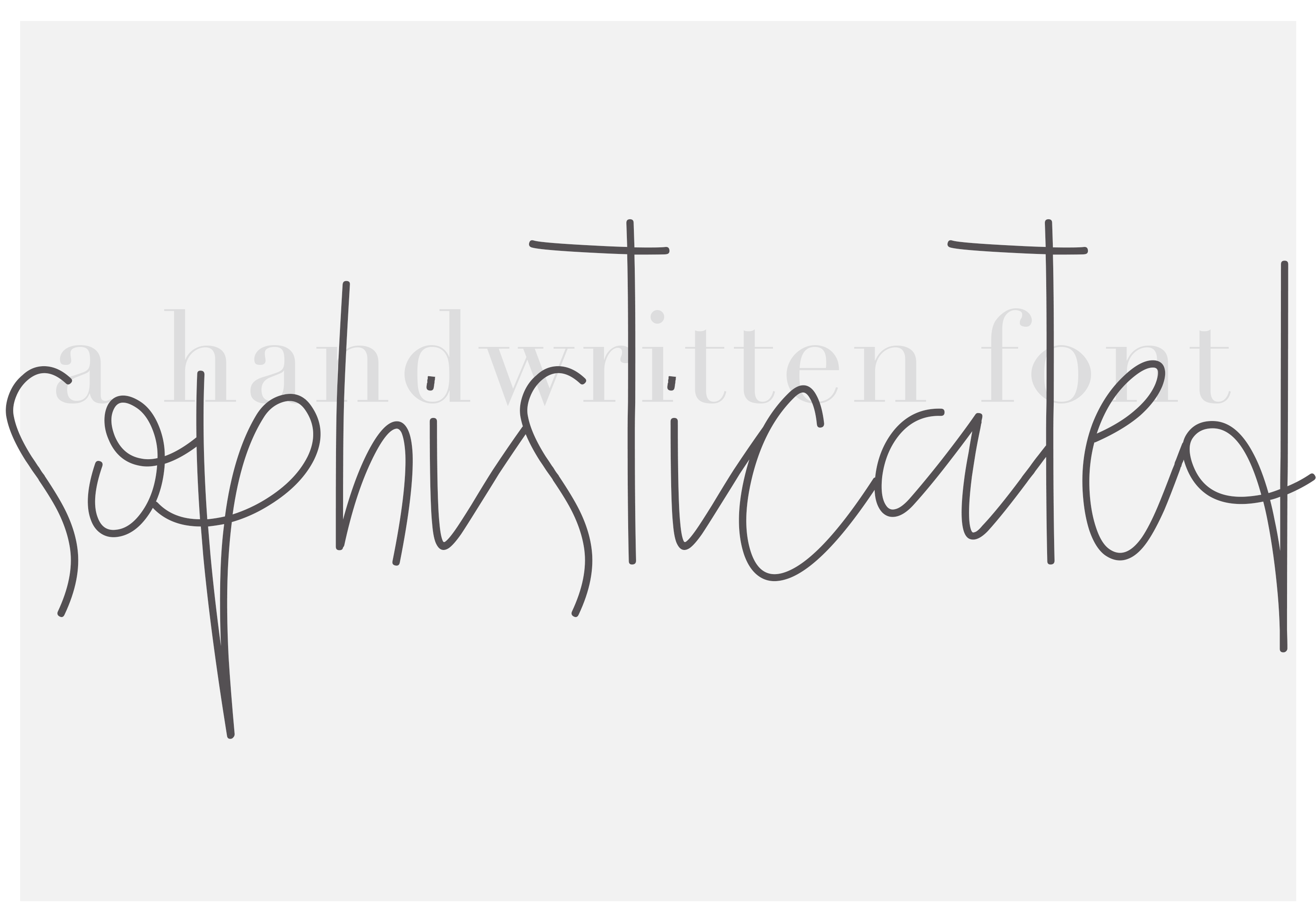 Sophisticated Outfit - A Chic Handwritten Font example image 6