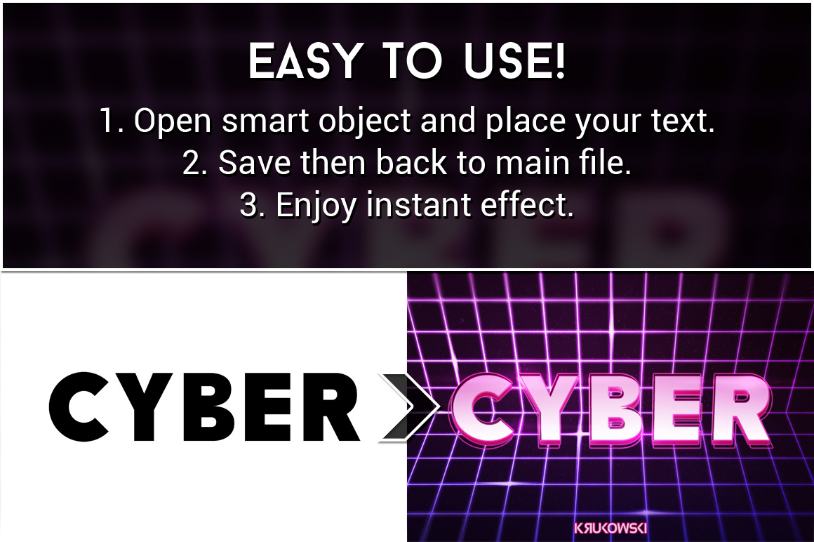 Cyber Text Effects Mockup example image 2