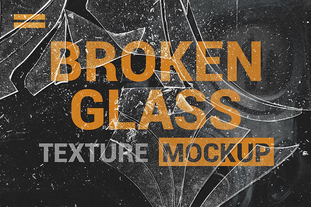 Broken Glass Texture Mockup example image 4