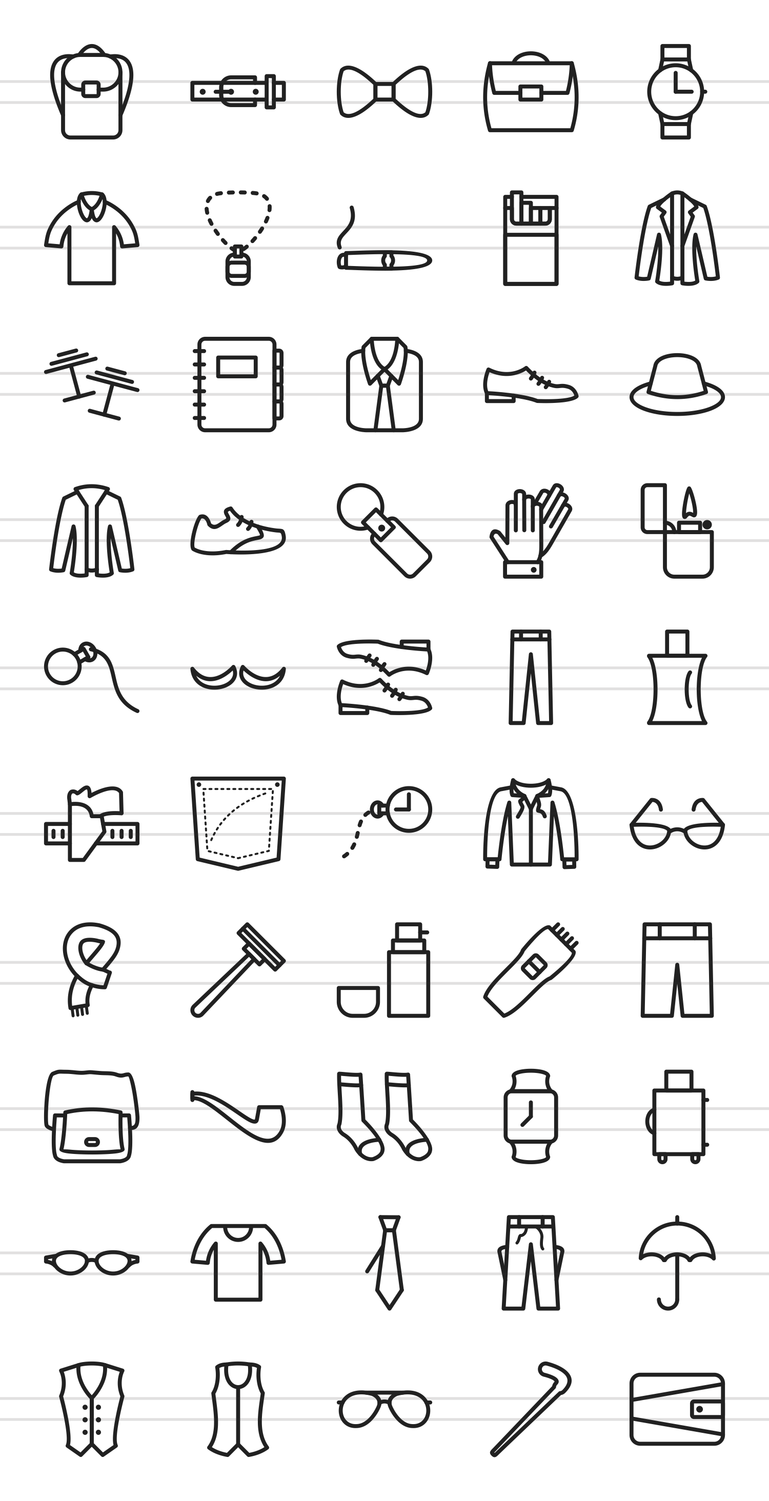 50 Mens Accessories Line Icons example image 2