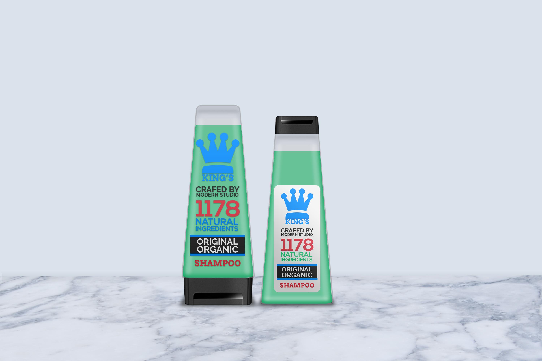 Hair and Body Shampoo Bottle Mock-Up example image 8