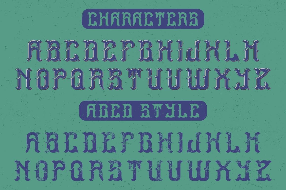 Ocean Storm label font example image 2