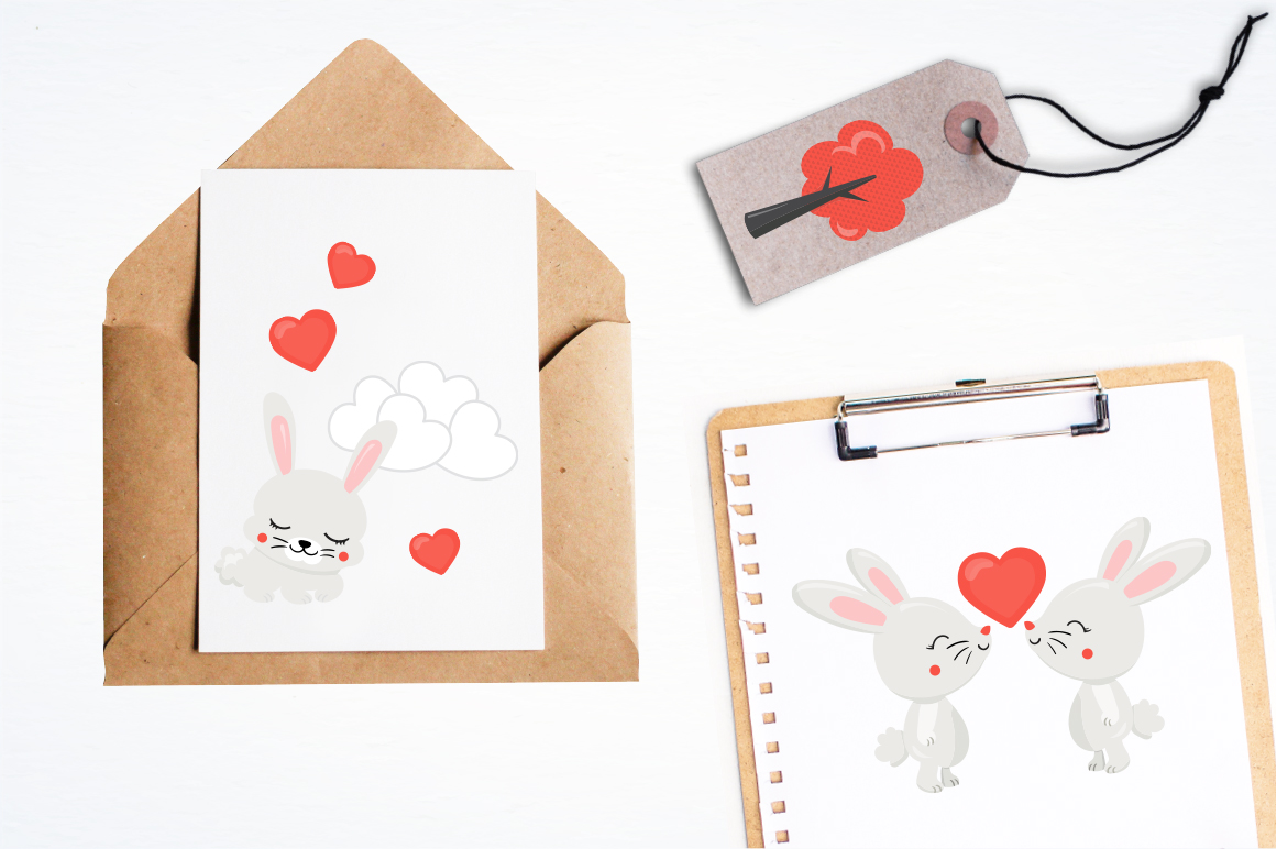 Cute Bunny graphic and illustrations example image 2