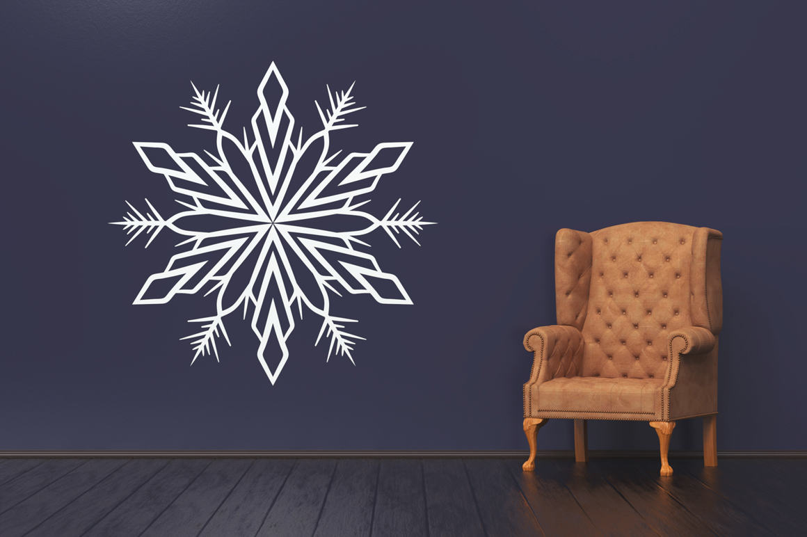 500 Snowflake Vector Ornaments example image 2