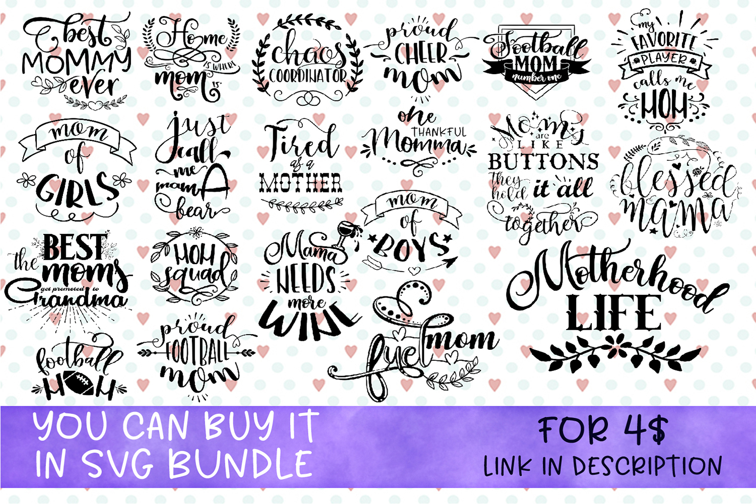 Mom's life Bundle svg inspired quotes SVG Handwritten svg Mo example image 1