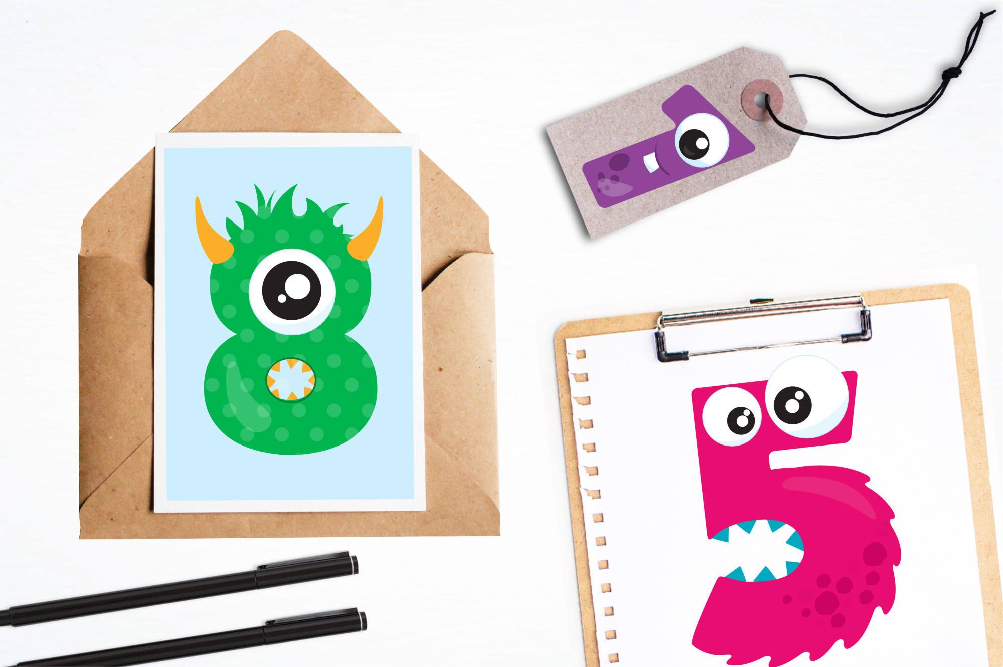 Monster Numbers graphics and illustrations example image 4