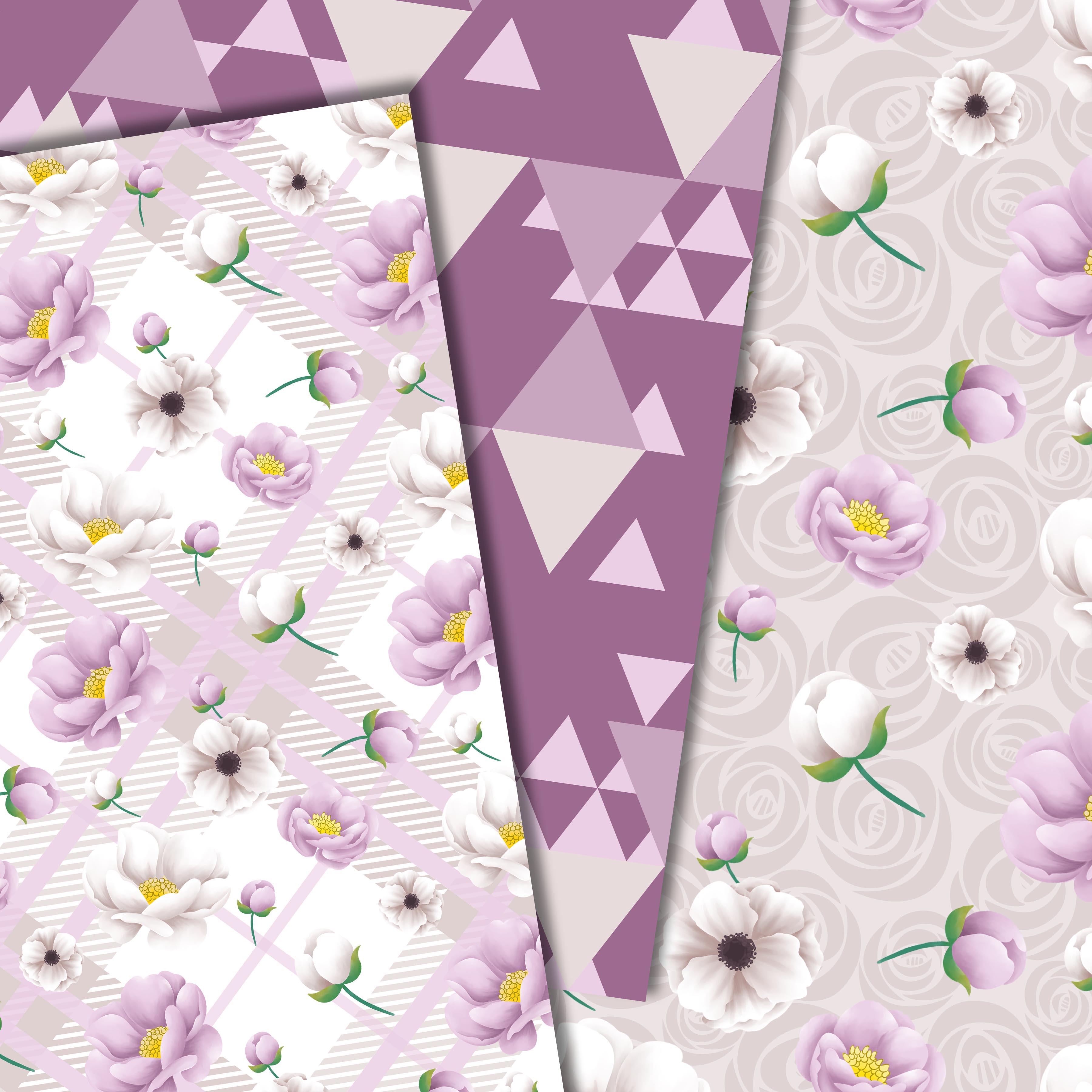 Purple flowers paper example image 4