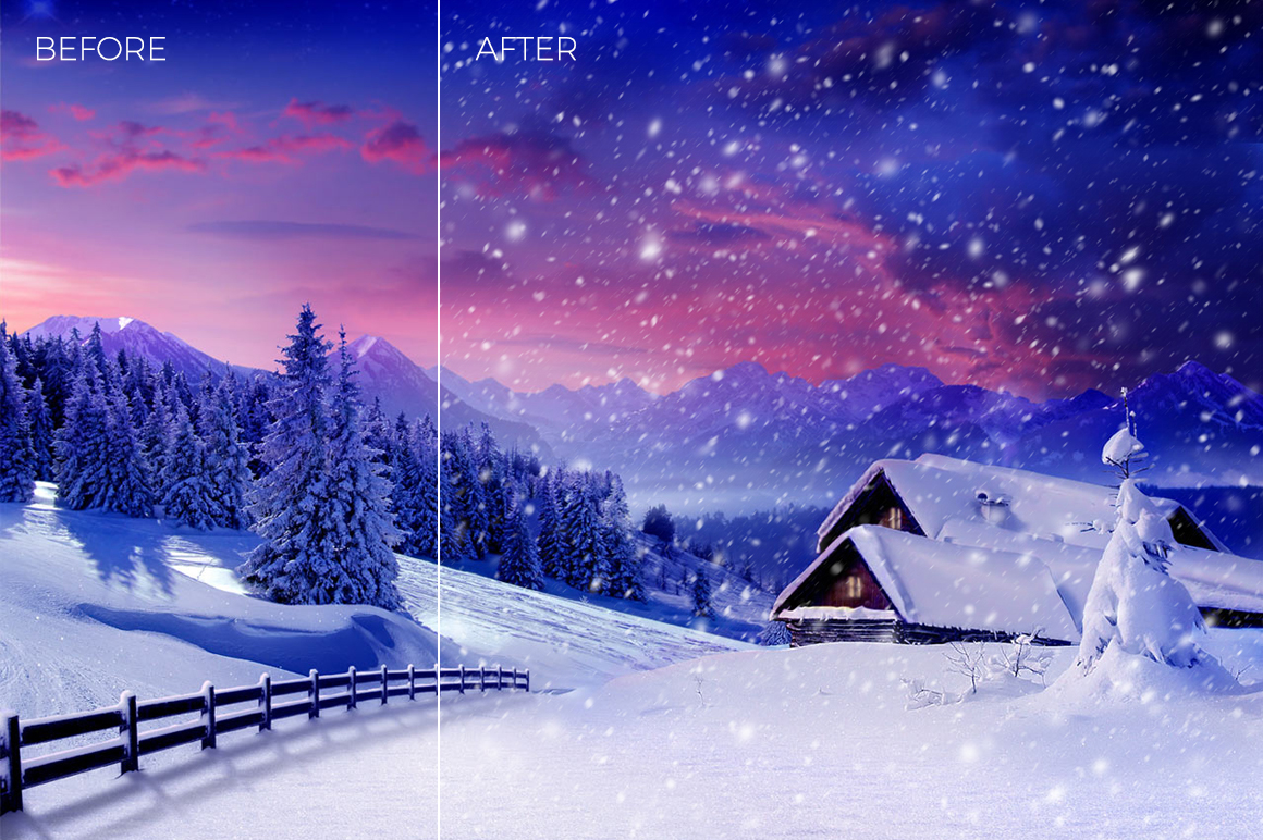30 Real Snow Overlays example image 11