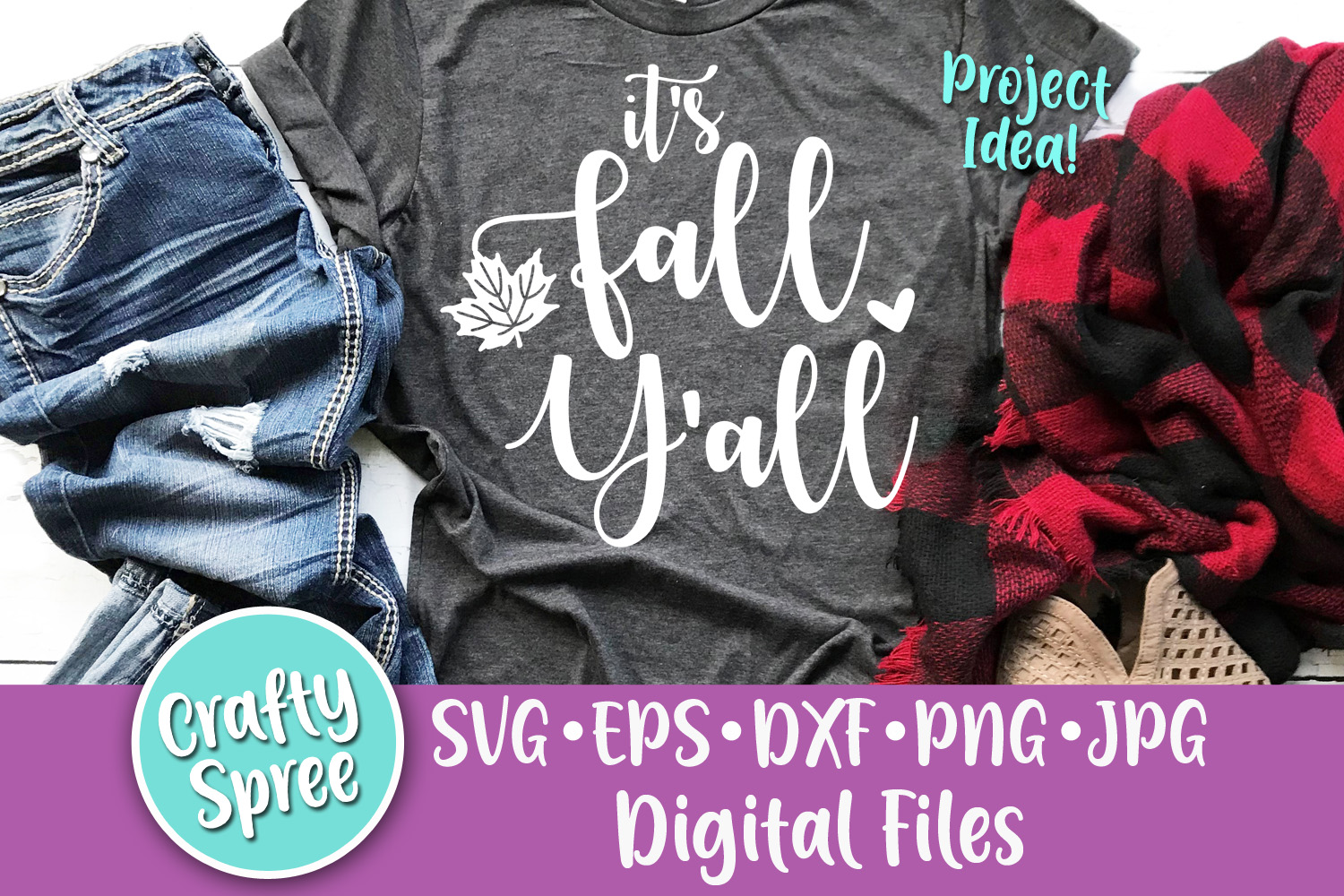 It's Fall Y'all SVG PNG DXF Cut File example image 2
