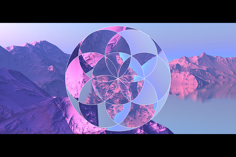 Flower of Life - 4 Photoshop Circular Dispalcement Actions example image 2