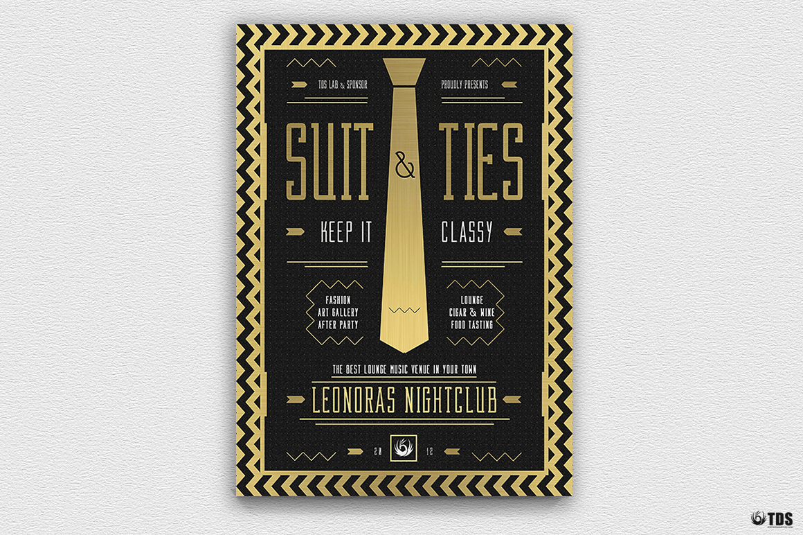 Suit and Tie Flyer Template V3 example image 4