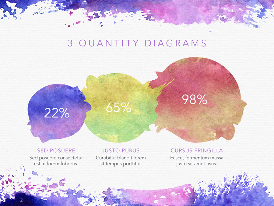 Watercolor PowerPoint Template example image 3