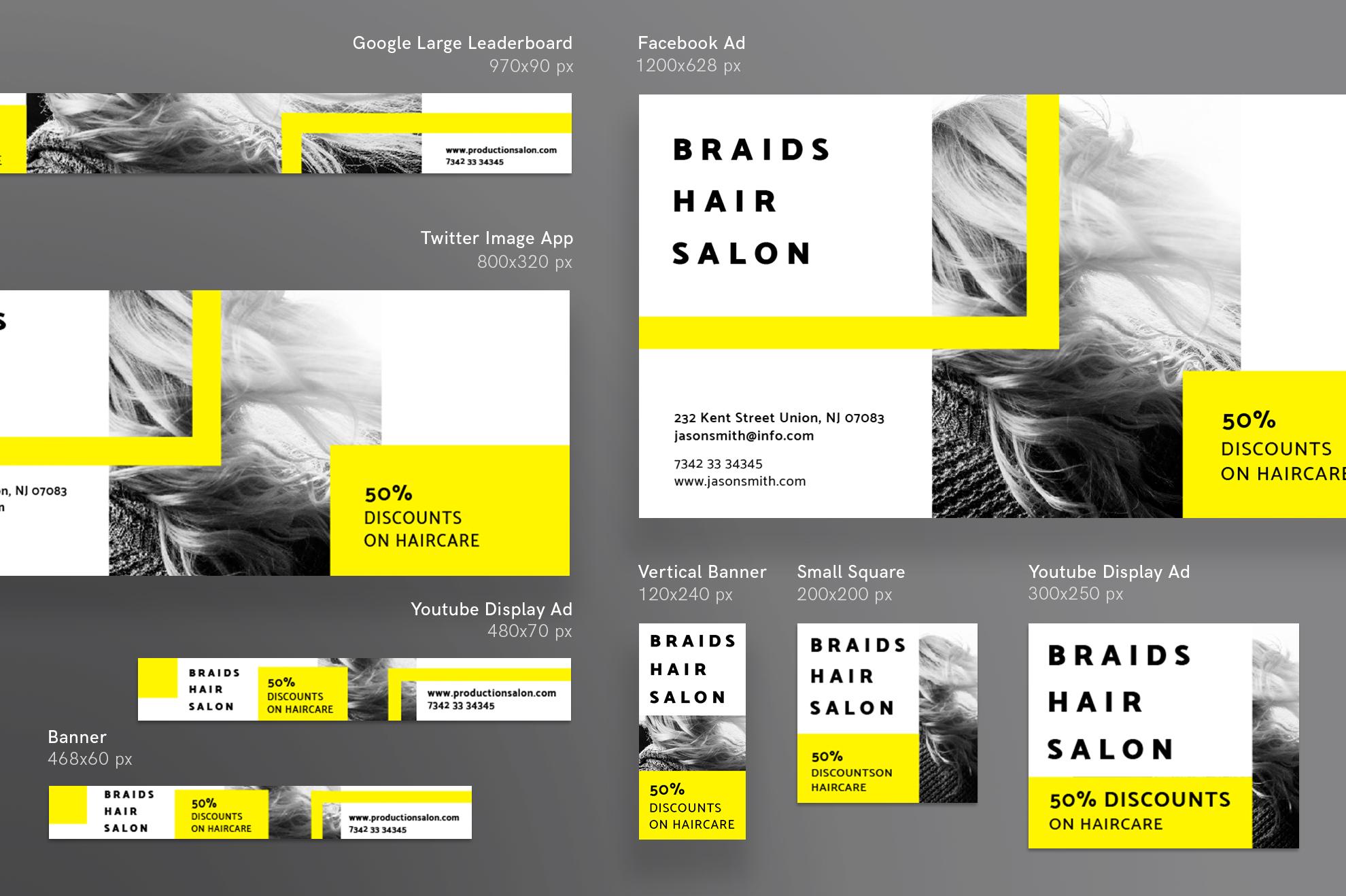 Hair Salon Barbershop Design Templates Bundle example image 12