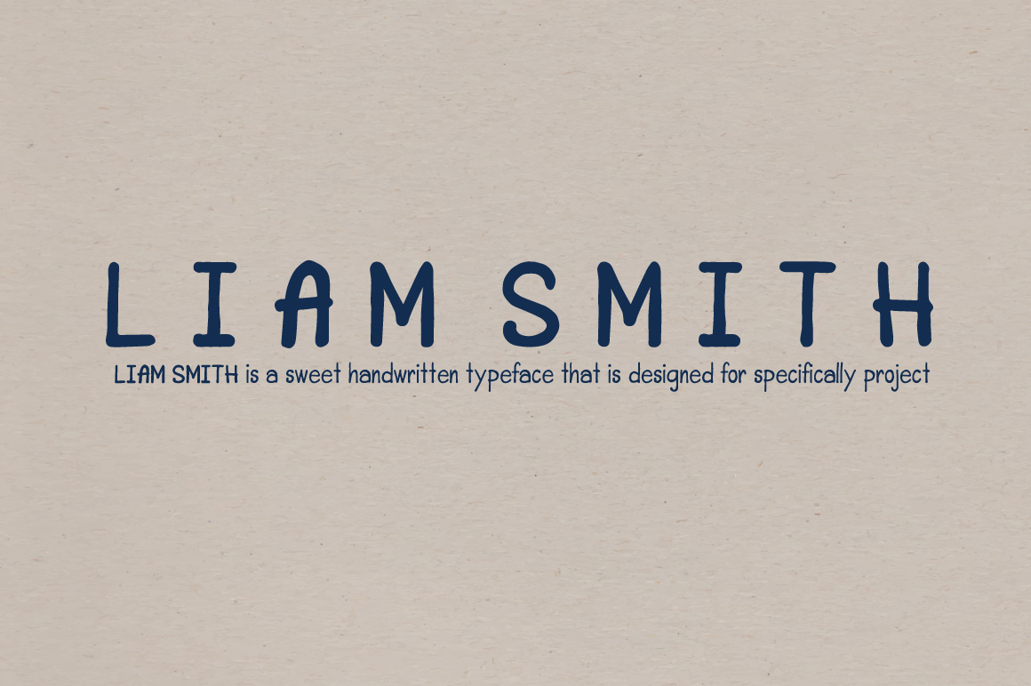Liam Smith Handwritten font example image 1