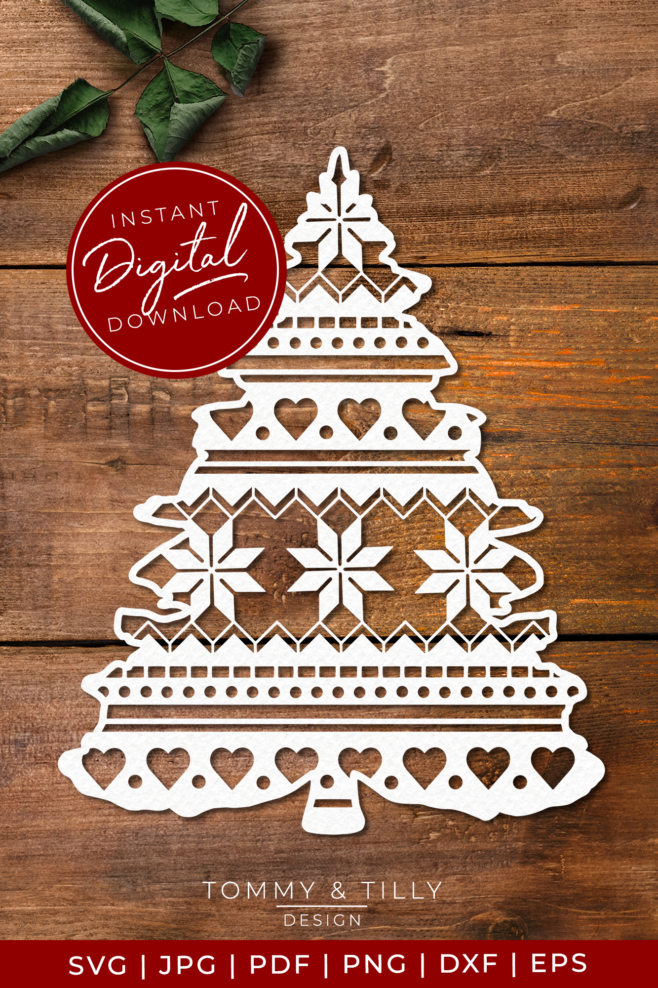 Pattern Christmas Tree - SVG EPS DXF PNG PDF JPG example image 4