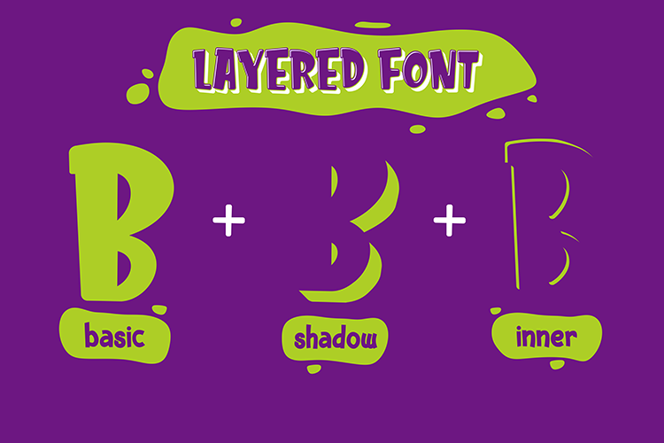 Kids Zone // Layered Font example image 2
