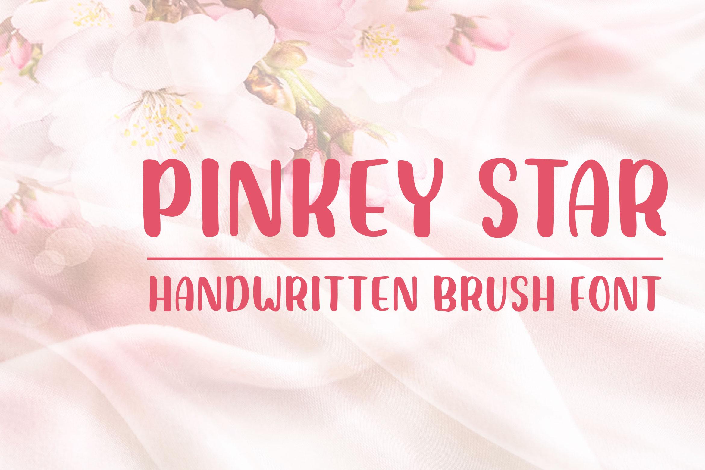 Pinkey Star - Handwritten Brush Font example image 1