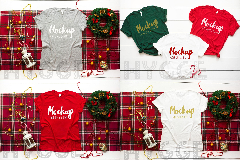 Winter Tshirt Mockup Bundle Bella Canvas 3001 3005 3501 3719 example image 8