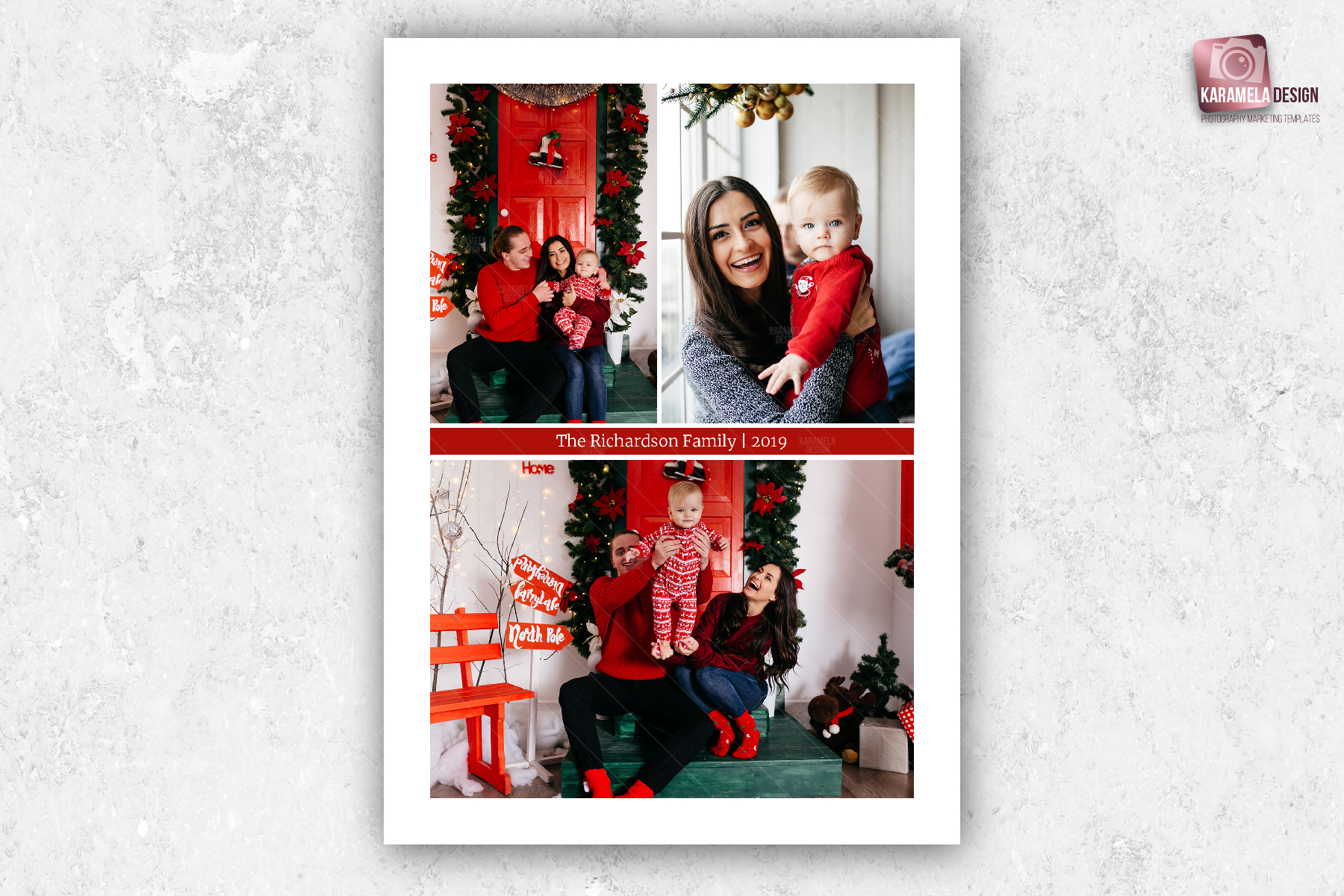 Christmas Photo Card Template example image 3
