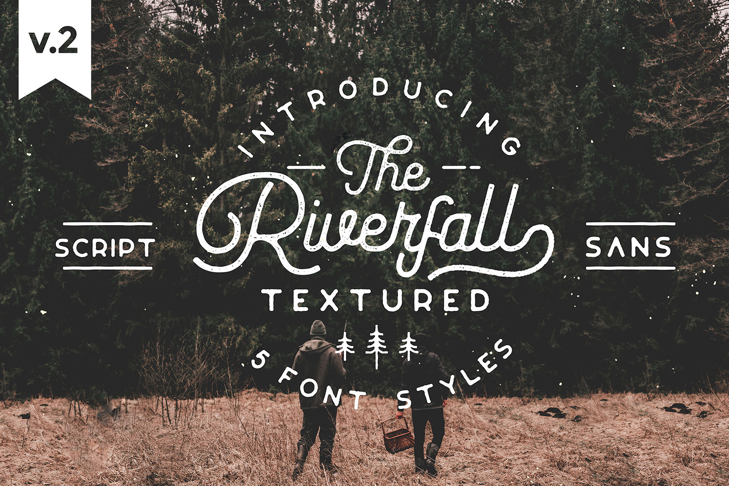 Riverfall Semi Rounded Textured Typeface Ver.2 example image 2