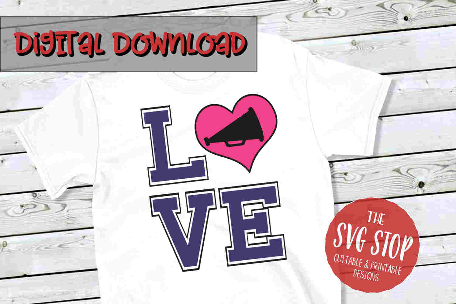 Love Cheer 4 -SVG, PNG, DXF example image 1