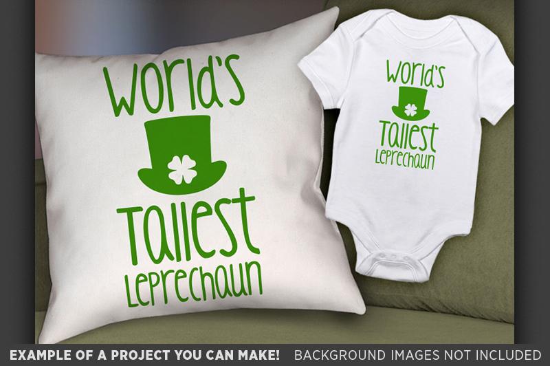 World's Tallest Leprechaun SVG - Kids St Patricks Day - 1072 example image 2
