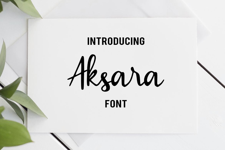 Aksara Font example image 1