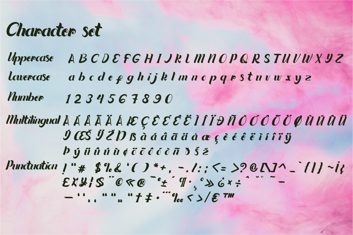 Quintuples Modern Calligraphy example image 7