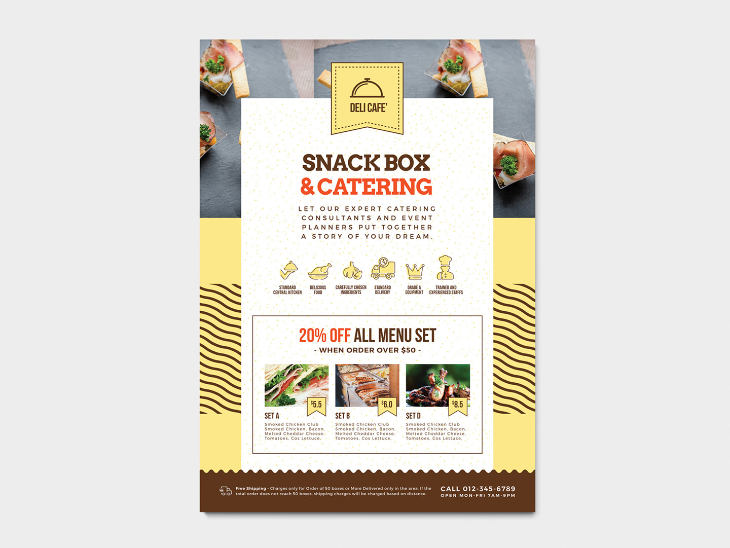 A4 Catering Service Poster Template example image 2