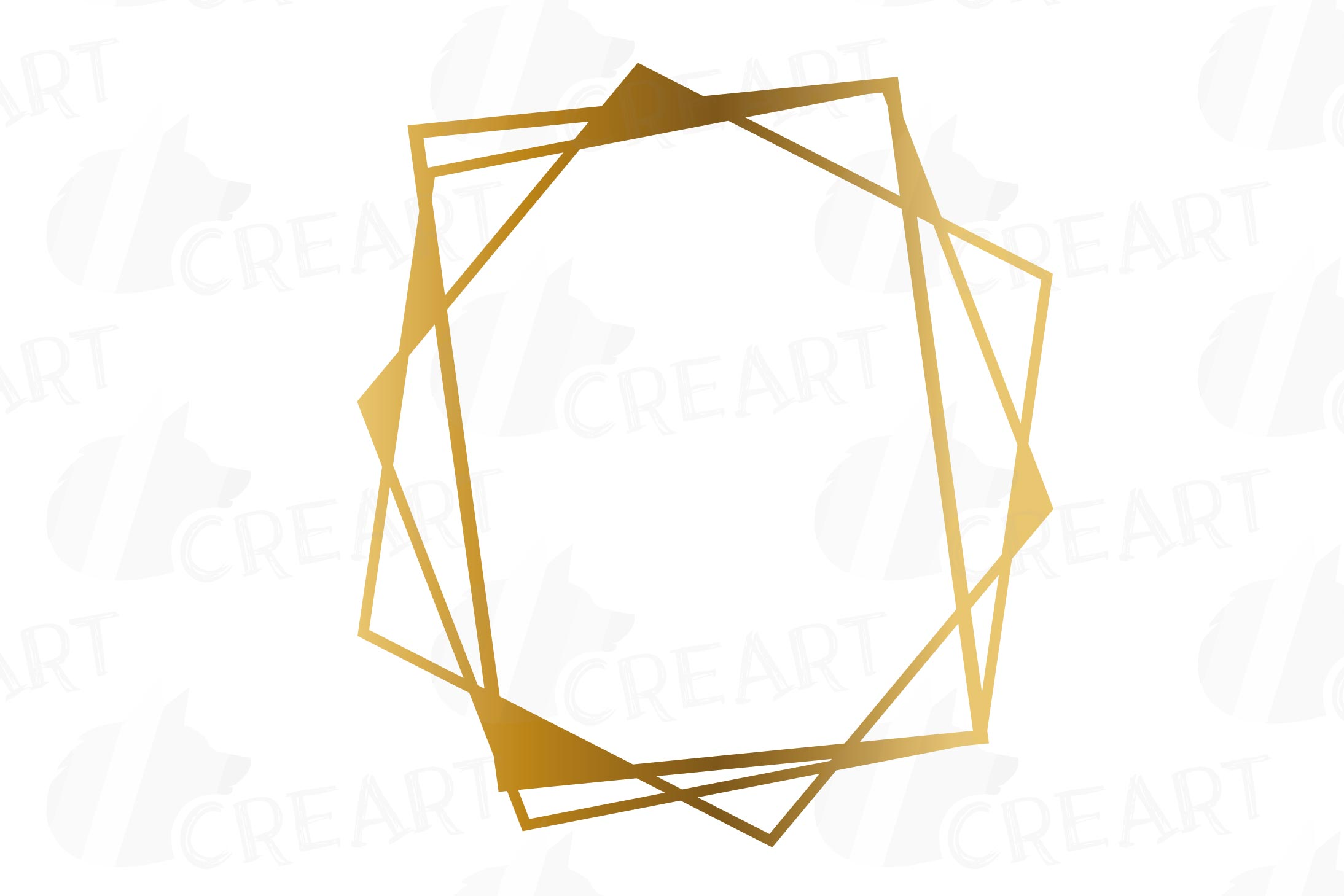 Chaotic geometric golden frames, lineal frames clip art example image 14