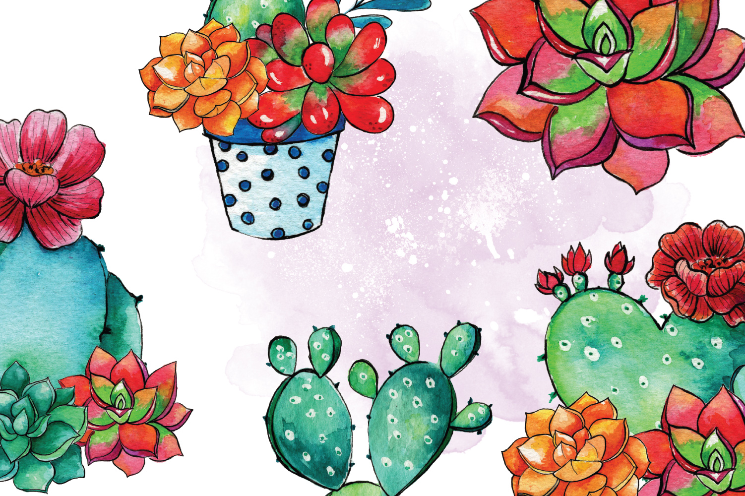 Cactus Blossom Clip Art example image 3