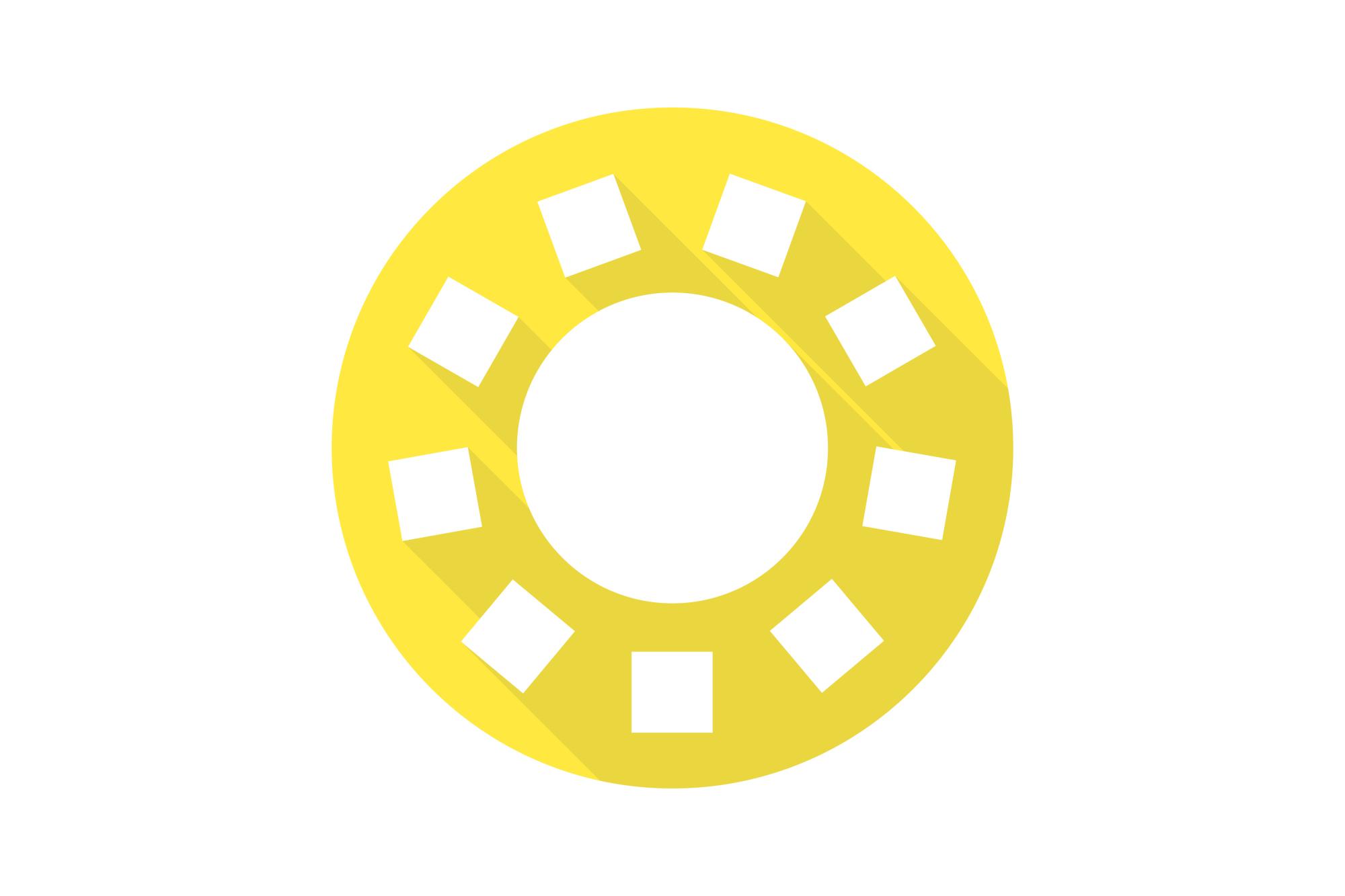 Vector sun icons set. Flat design. example image 7