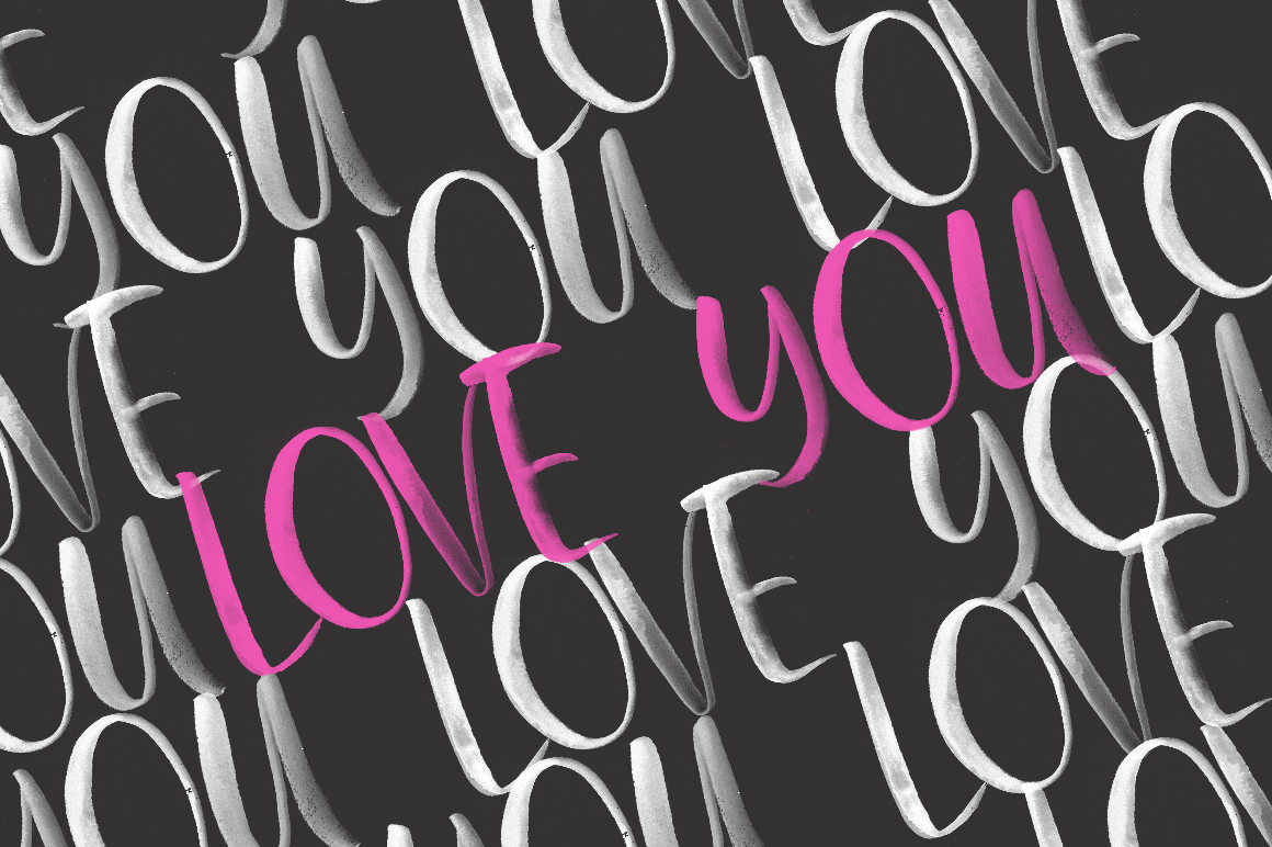 First Kisses. SVG Font Collection. example image 16