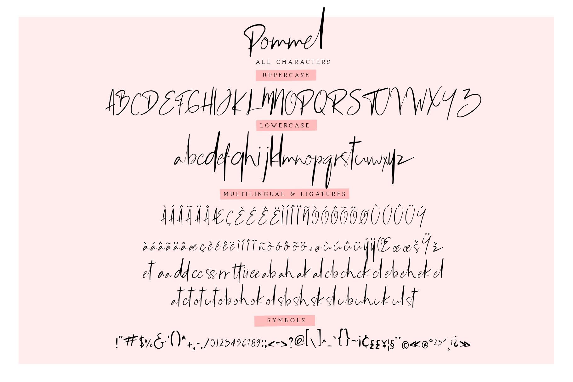 Pommel - Handstylish Font example image 4