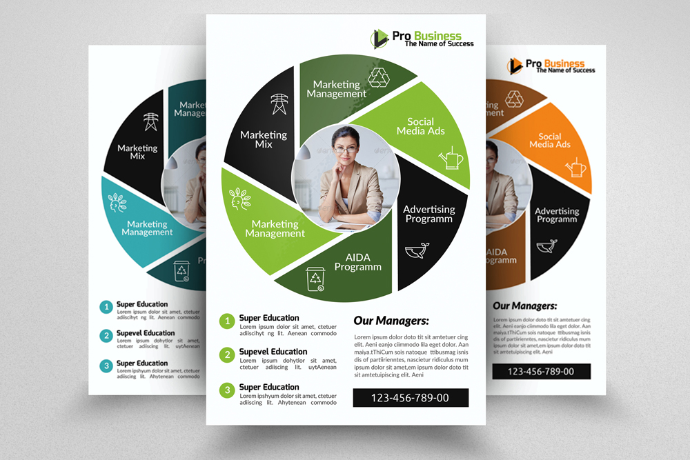 6 Corporate Business Flyers Bundle example image 5