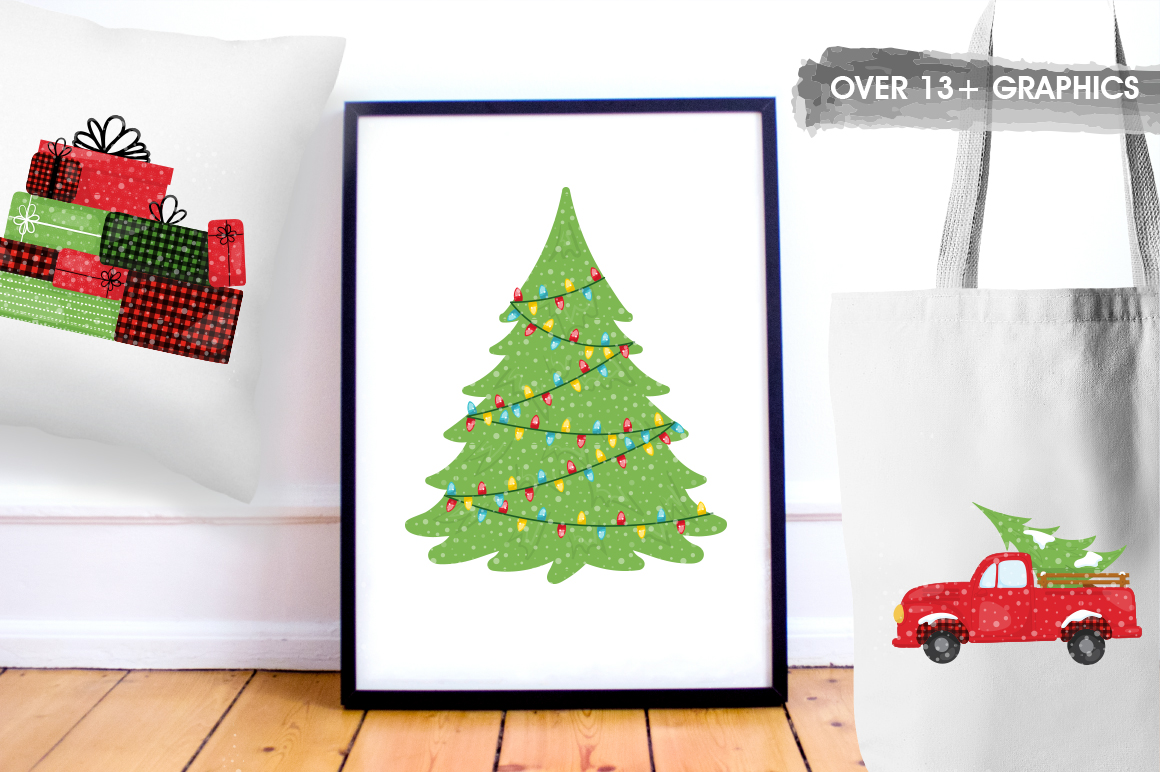 Christmas Tree graphic and illustrations example image 3