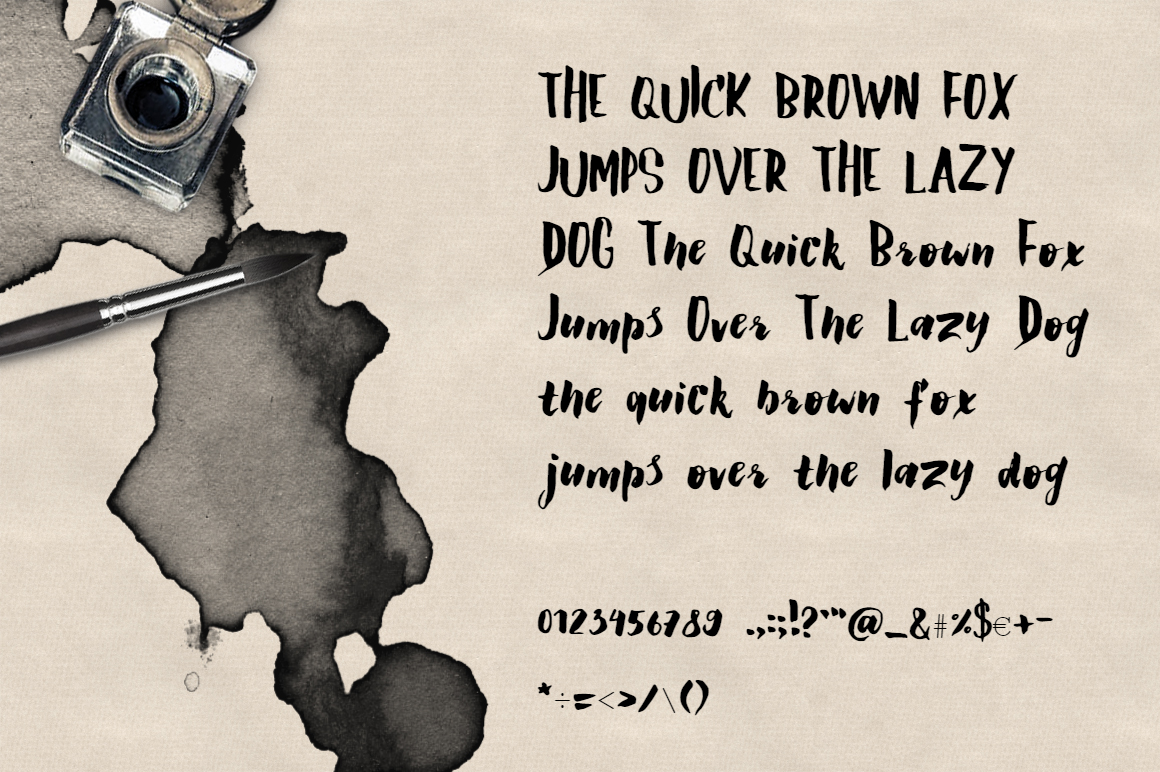 Claretta Brush Ink Font example image 3