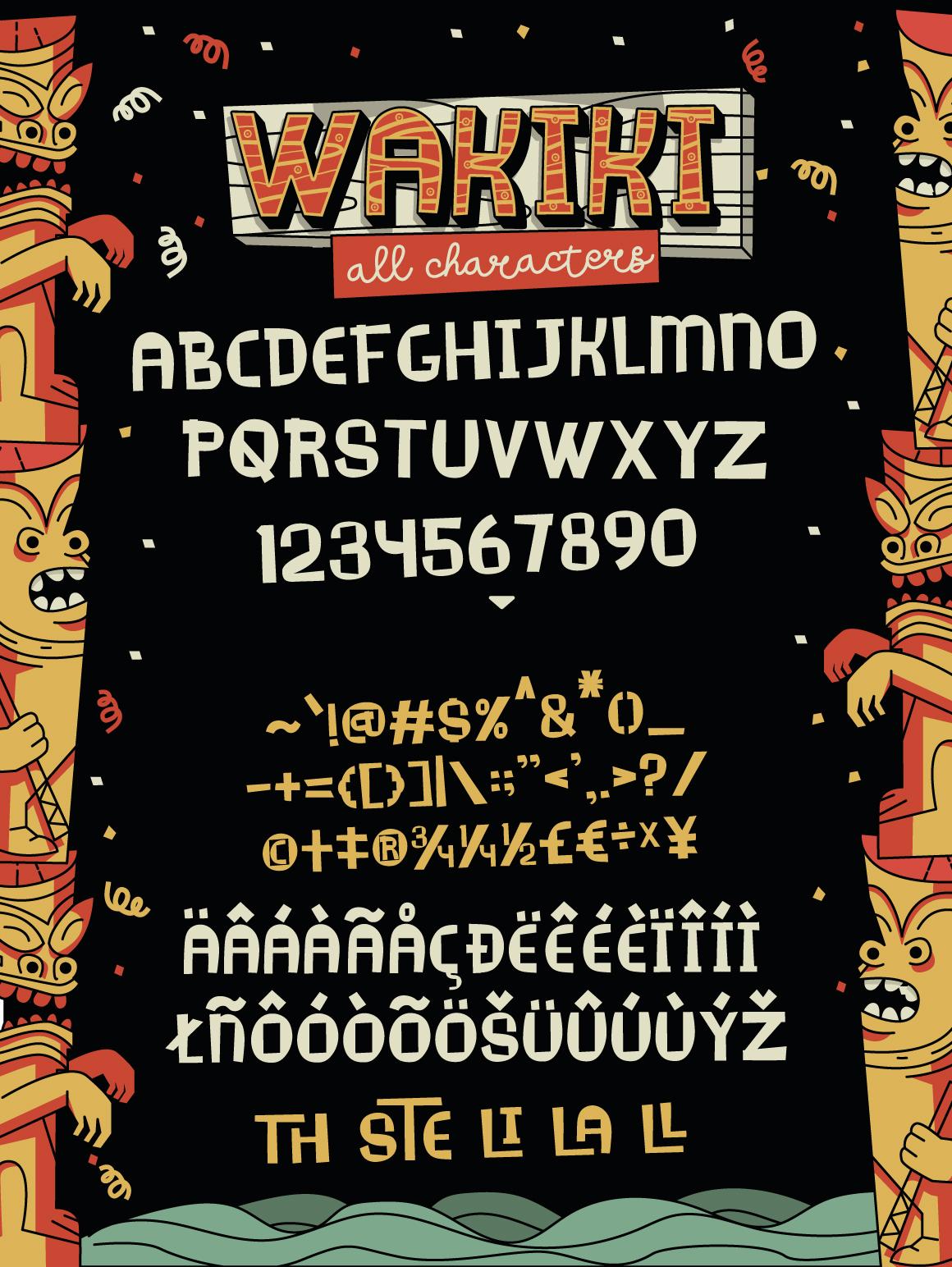Wakiki Layered Typeface + Bonus example image 2