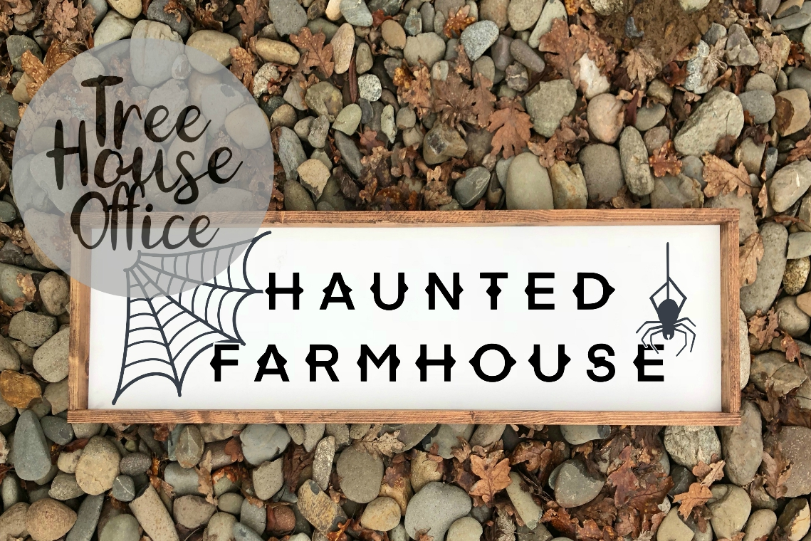 Haunted Farmhouse Halloween Front Porch SIgn SVG PNG JPG DXF example image 2