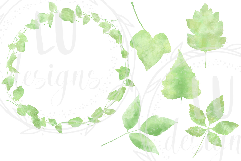 Watercolor Greenery example image 3